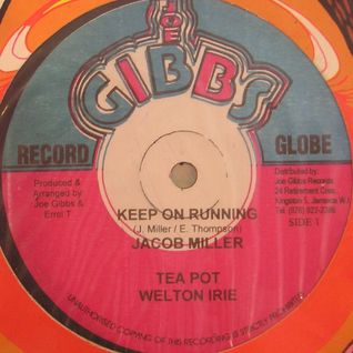 "Jacob Miller , Welton Irie - Keep On Running 12"" + Joe Gibbs & The Professionals Version"