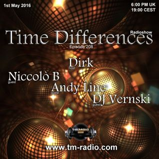 Dirk - Host Mix - Time Differences 208 (1st May 2016) on TM-Radio