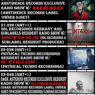 21h 13-(gmt+1) Sdl Recordings Germany and Sublabels Resident Radio Show w/INTOXX (Sdl Recordings)