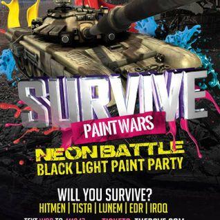 Hitmen Opening For Nick Rockwell @ Paint Wars 4 Neon Battle @ Eagles Ballroom, MKE (5-2-14)