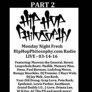 HipHopPhilosophy.com Radio - LIVE - 03-14-16 - PART 2