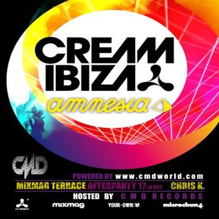 CMD Records at Cream Ibiza Amnesia@Mixmag Terrace Afterparty by Chris K. 17th Octomber