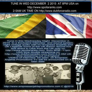 DJ EMPRESS ANJAHLA SAXON STUDIO INTERNATIONAL RADIO INTERVIEW DECEMBER 2