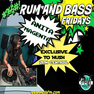 !Live Rum & Bass Fridays @BrandonDNB with @Magenta_DJ on @HushFMRadio - www.hushfm.com(8-7-2015)