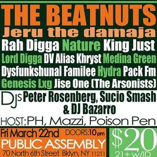CRAZY DJ BAZARRO BEATMINERZ RADIO REWIND 03/13/13  PICK YA MIX
