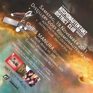 Chris Manura (Distillery, Leipzig) - Peaktime - Kosmonautentanz - SA 19.11.2011