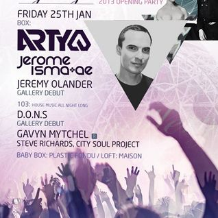 Jeremy Olander - Live @ Ministry of Sound (London) - 25.01.2013