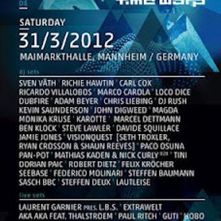 Dubfire Live @ Time Warp 2012 Mannheim , 31.3.2012