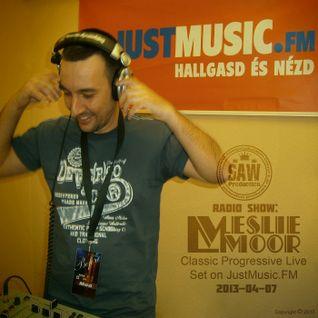 SawProduction Radio Show: Leslie Moor Classic Progressive Set on JustMusic.FM (2013-04-07)
