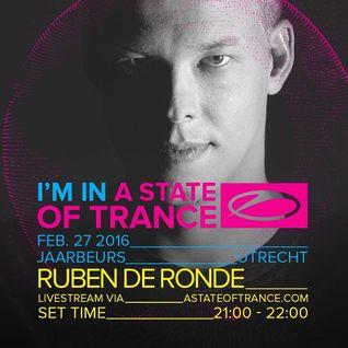 Ruben de Ronde - ASOT 750 Festival Jaarbeurs in Utrecht, The Netherlands (27-02-2016)