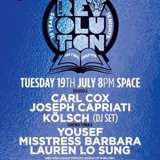 Joseph Capriati @ Music is Revolution Week 6, Space Ibiza - 19 July 2016