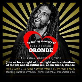 Rest In Peace Oronde ~ Rich Medina, Mike Nyce, Ultraviolet, Mr. Sonny James & Lee Jones   part 1