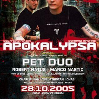 Robert Natus @ Apokalypsa 21 / Schranz Machine (28.10.2008 / Brno)