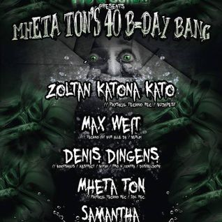 Zoltan Katona (Kato) Live@Sektor 7, Düsseldorf, Germany, MheTa Ton's Bday Bang 2016 05 07 04h30-06h