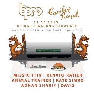Davis  - Live At D-Egde & Warung, Canibal Royal (The BPM Festival 2015, Mexico) - 15-Jan-2014