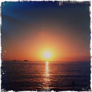 Wrth i'r Haul Ddisgyn i'r Mor (A Sunset in Ceredigion)