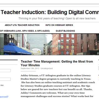 UTA Webinar 3: Advice on Classroom Management