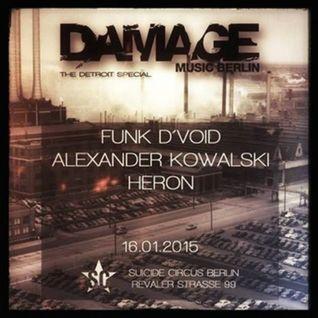 Funk D'Void - Live @ Damage Music Berlin, Label Night - 16.01.2015