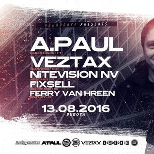 Fixsell - Live @ ARENA Varaždin, AbunDance Open Air w/ A.Paul & Veztax 13.08.2016.