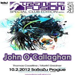 10.02.2012 - John O'Callaghan Live @ Trancefusion Special Club Edition - SasaZu Prague