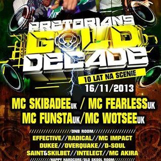 Nefti & Mc Impact - Live @ Pretorians Gold Decade 16.11.2013