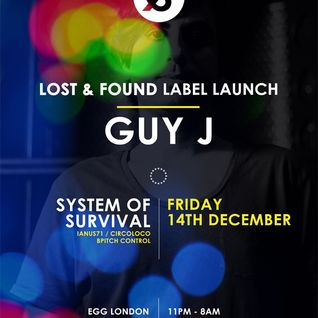 Guy J Warm Up Mix special for Egg London