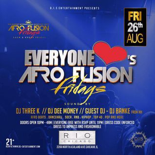DJ DEE MONEY LIVE AT AFROFUSION FRIDAYS AT RIO - AUG 26