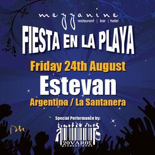 Estevan at Fiesta en la Playa @ Mezzinine, Tulum - 24/8/12