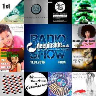 DEEPINSIDE RADIO SHOW 094 (Tracy Hamlin Artist of the week)