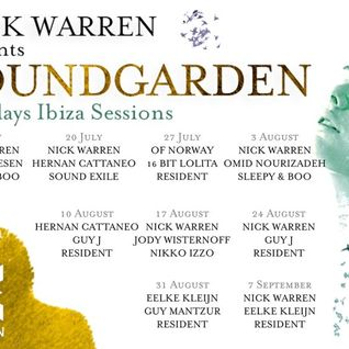 Nick Warren - Live @ Sound Garden, Eden Ibiza - 07.09.2015