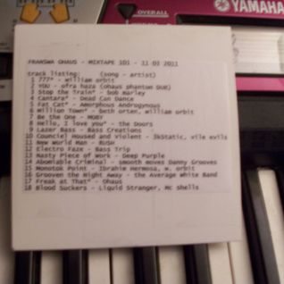 Ohaus picks MIX-tape 101 file under: breakbeat, classic rock, dub