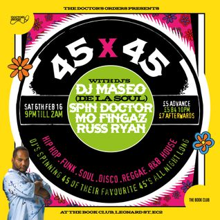 45 x 45's Volume 3 mixed by @DJSpinDoctor