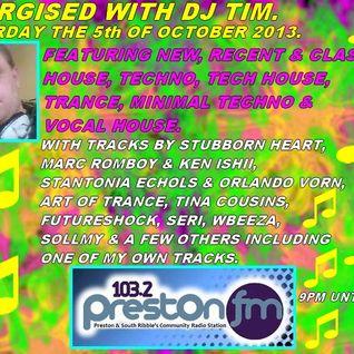 Energised With DJ Tim - 5/10/13/ - 103.2 Preston fm