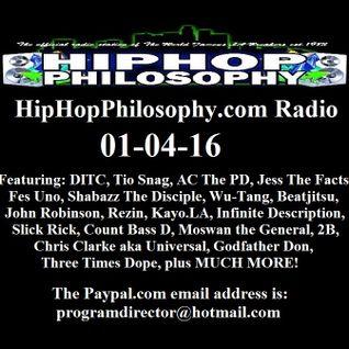 HipHopPhilosophy.com Radio - LIVE - 01-04-16
