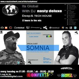 Global Session - Nasty deluxe - Somnia - Confetti Digital UK - London