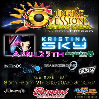Gwi LIVE @ Sunrise Sessions feat. Kristina Sky