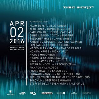 Dubfire - Live @ Time Warp Mannheim (Germany) - 02.04.2016