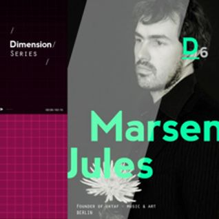 Marsen Jules - Podcast for Dimension Series (Static Discos) Dec.2013