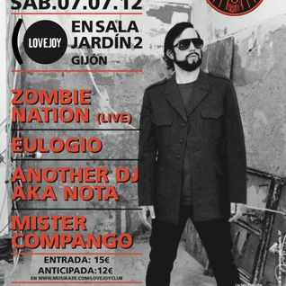 Anotherdj Nota @Jardin 2(Gijón) Zombie Nation Party Lovejoy.