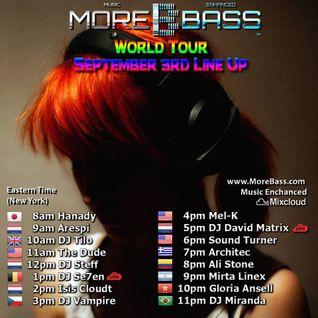 Mixcloud & Morebass present : Arespi @ World Tour September 3rd 2016