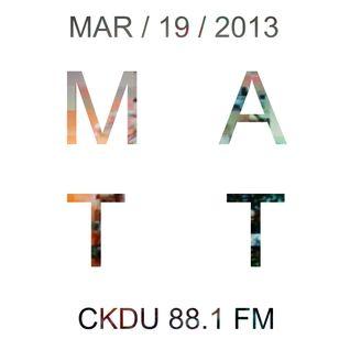 CKDU - March 19 2013