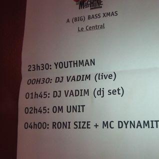 SUPORTING MIX FOR DJ VADIM / RONI SIZE @ La Machine du Moulin Rouge 22/12/12