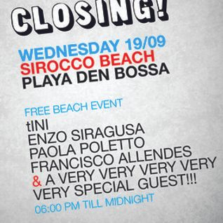 tINI & the Gang Closing - Enzo Siragusa Live @ Sirocco Beach, Ibiza - 19.09.12