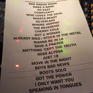 Eagles of Death Metal Mix (according to Live Track List Great American Music Hall SF CA 10.26.2015)