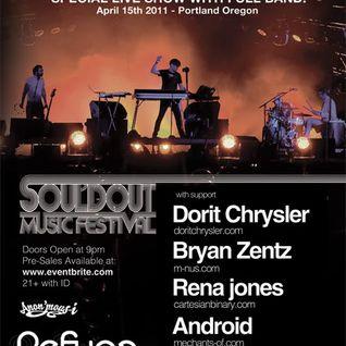 Android - Live DJ Set opening for Trentemøller : 04/15/2011 @ Refuge - Portland, Oregon