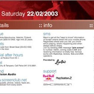 Lee Burridge - Live at Club Screen, Kaivohuone, Helsinki (22-02-2003)