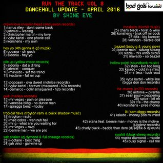 run the track vol 8... dancehall update april 2016