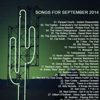 SONGS FOR SEPTEMBER 2014