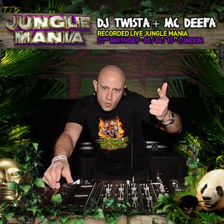 DJ Twista & Mc Deefa Live Jungle Mania 22nd Birthday Coronet London