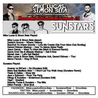 Week 25 2015 - Mike Lucas & Simon Beta - Bangerang Radio Show Guestmix by Sunstars